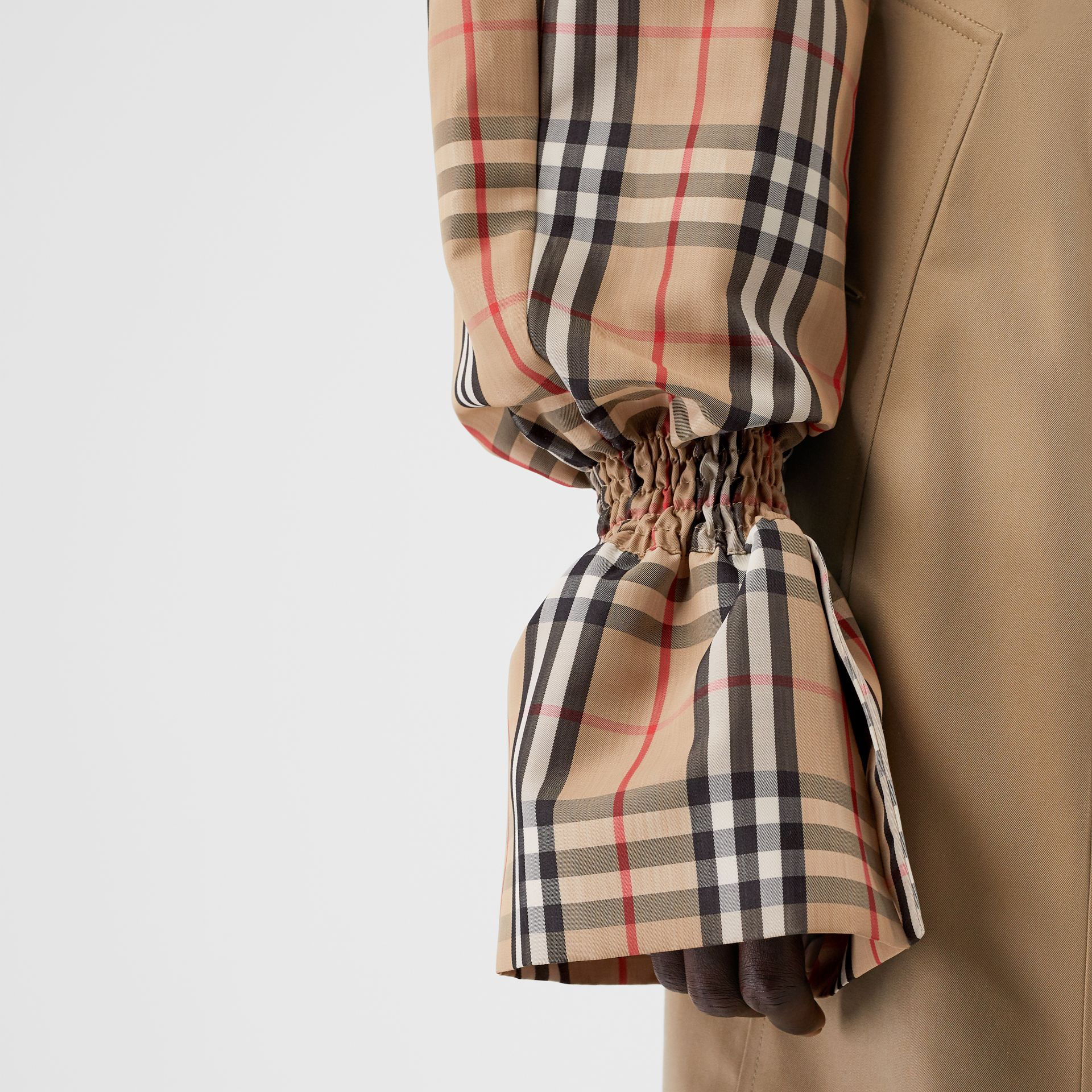 Vintage Check Puff Sleeves in Archive Beige - Women | Burberry - gallery image 1