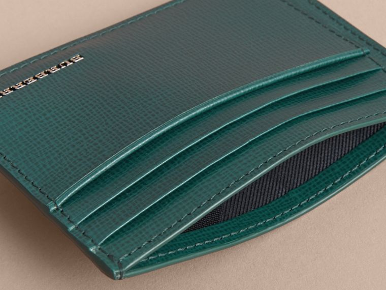 London Leather Card Case in Dark Teal | Burberry - cell image 4