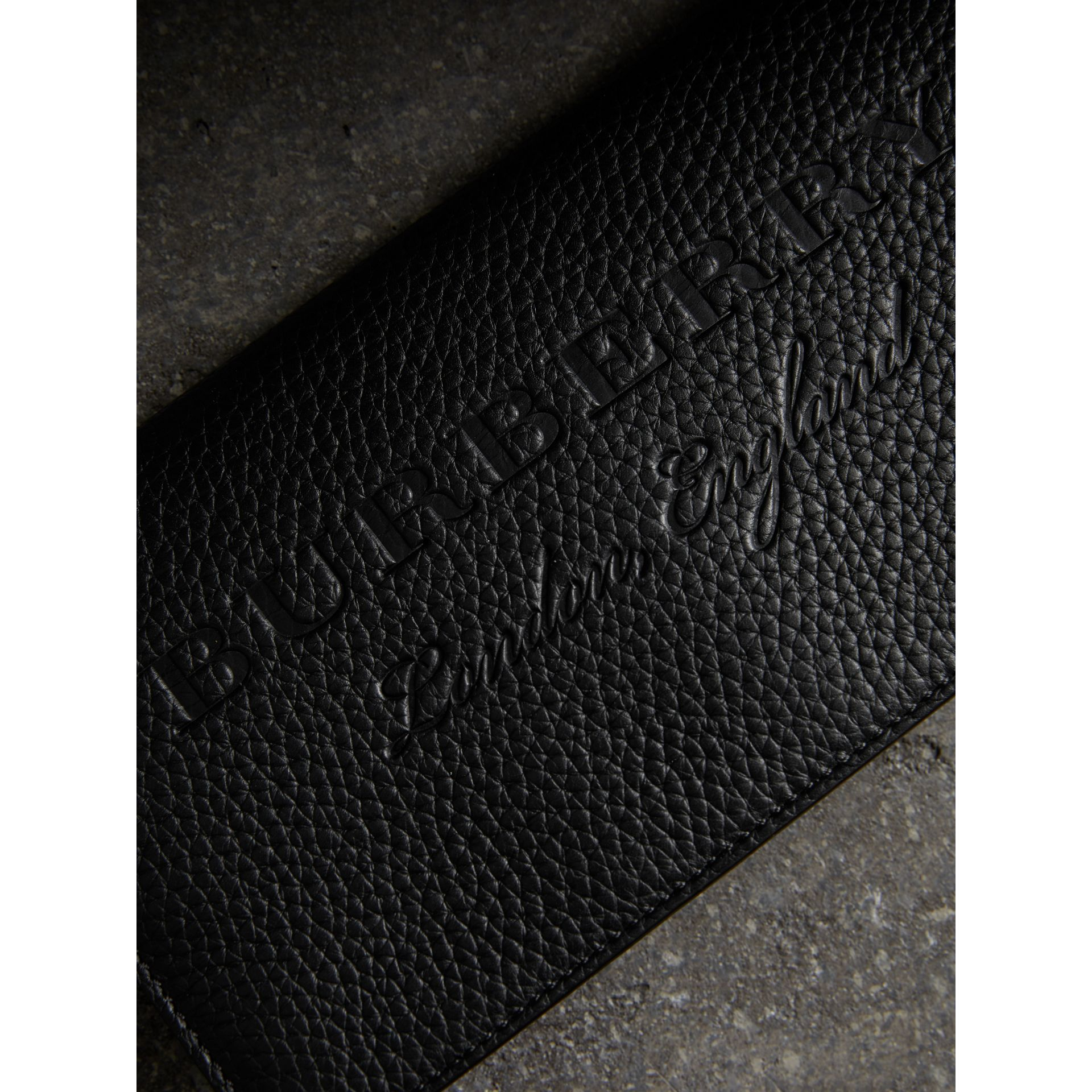 Embossed Leather Continental Wallet in Black - Women | Burberry Australia - gallery image 1