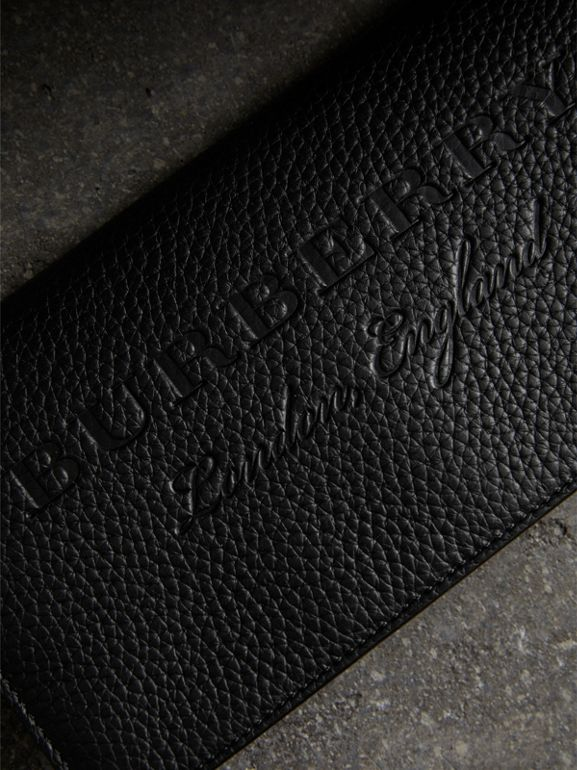 Embossed Leather Continental Wallet in Black - Women | Burberry Australia - cell image 1