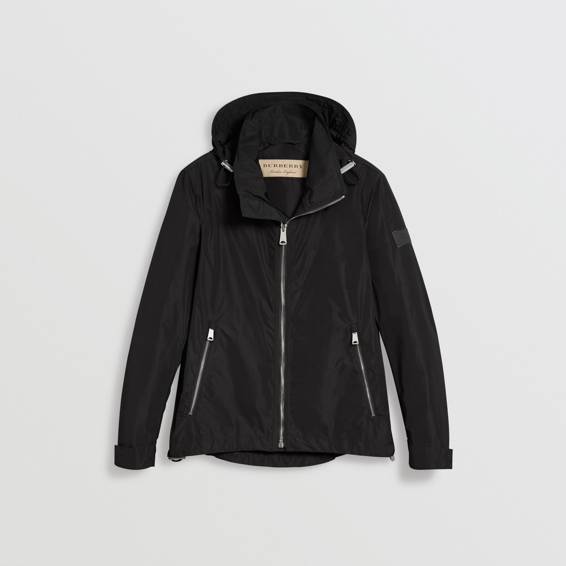 Packaway Hood Showerproof Jacket in Black - Men | Burberry - gallery image 3