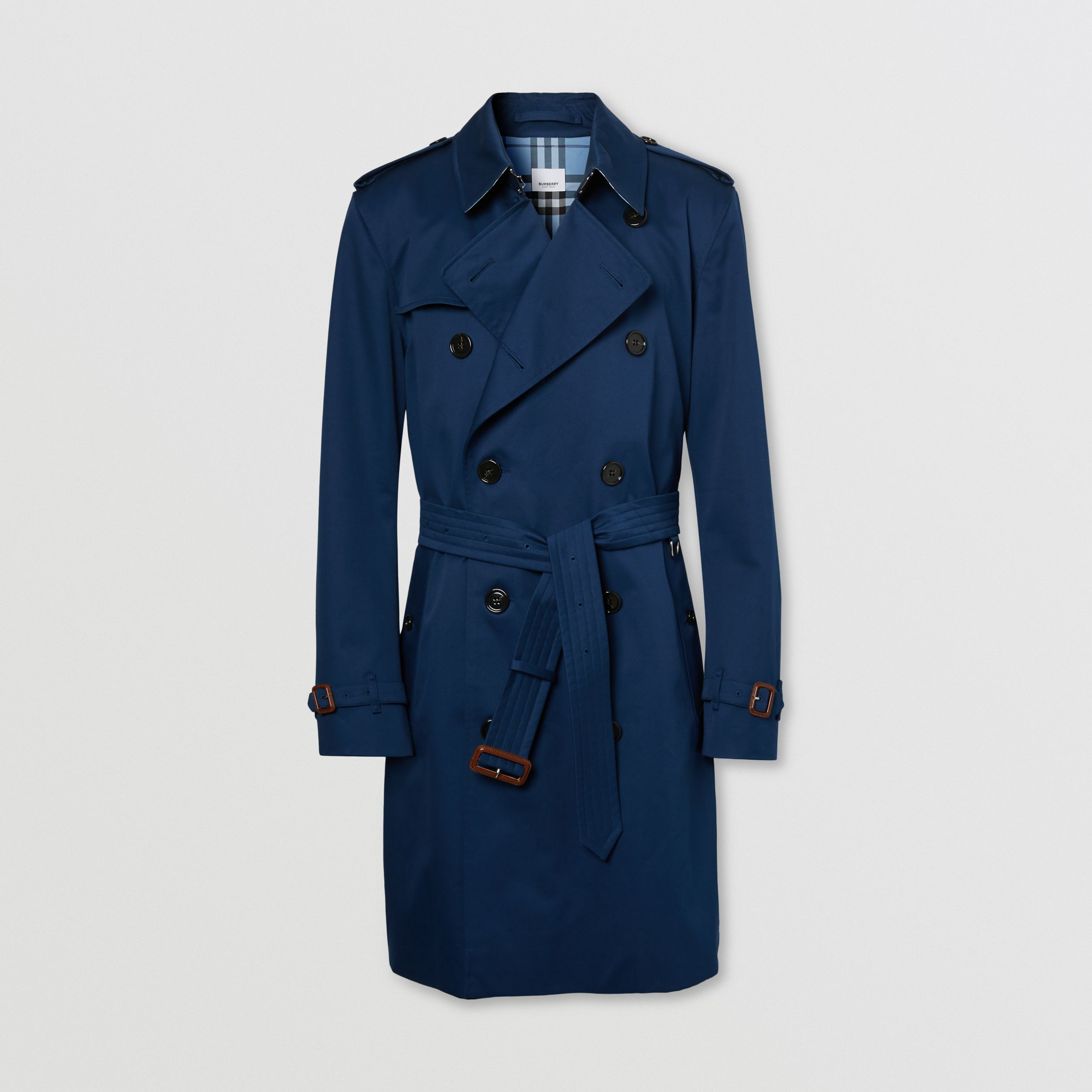 The Mid-length Kensington Trench Coat in Ink Blue - Men | Burberry - 4