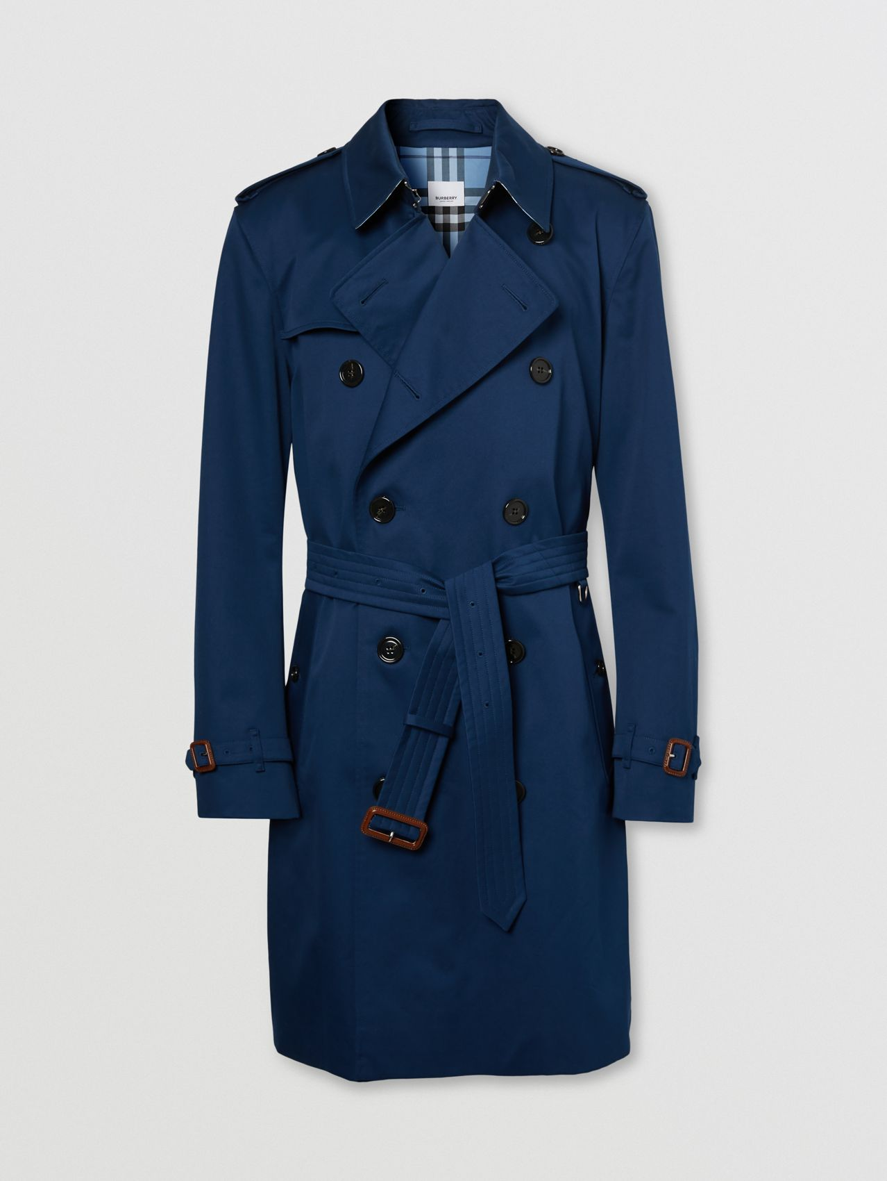 Trench coat Kensington de longitud media (Azul Tinta)