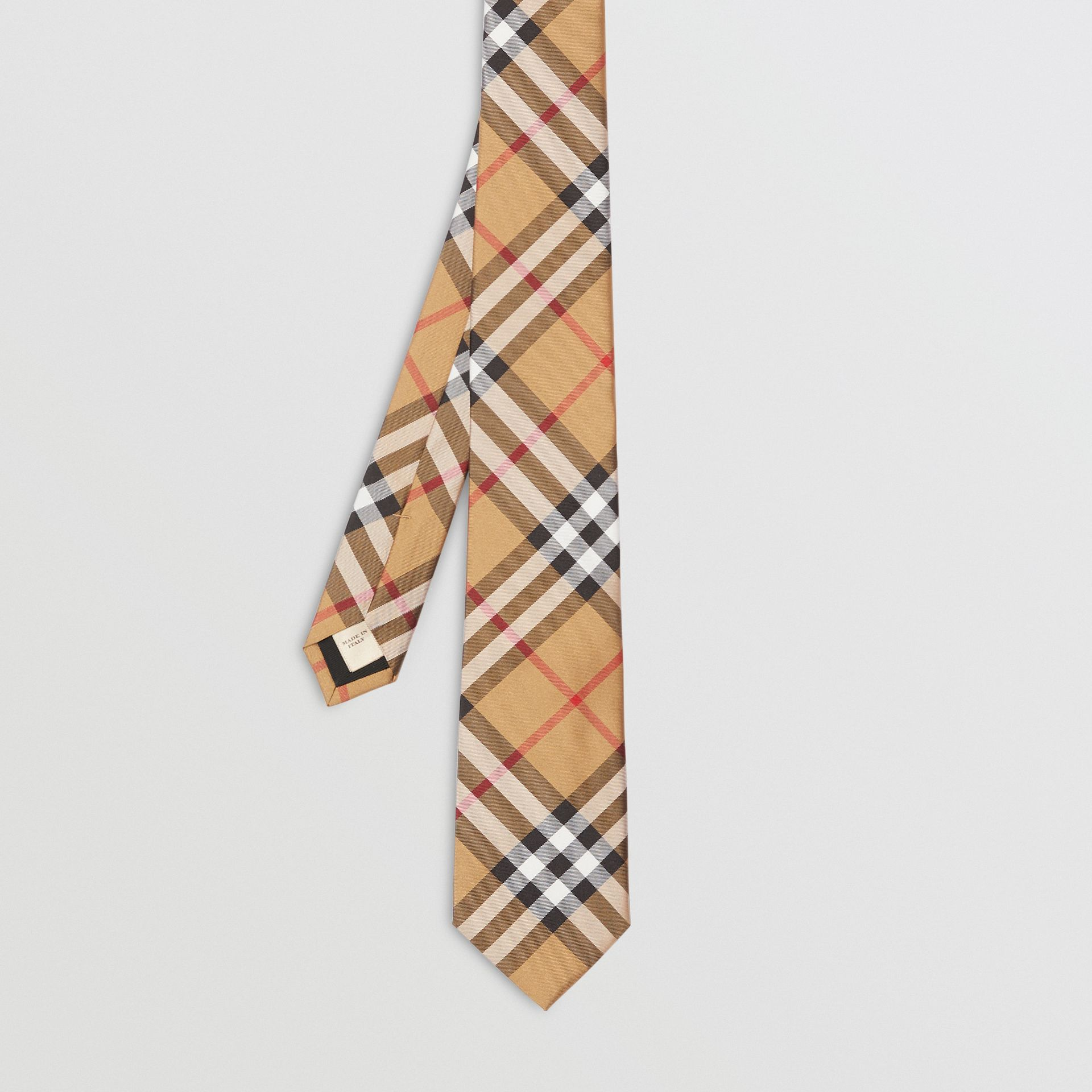 Modern Cut Vintage Check Silk Tie in Antique Yellow - Men | Burberry Australia - gallery image 4