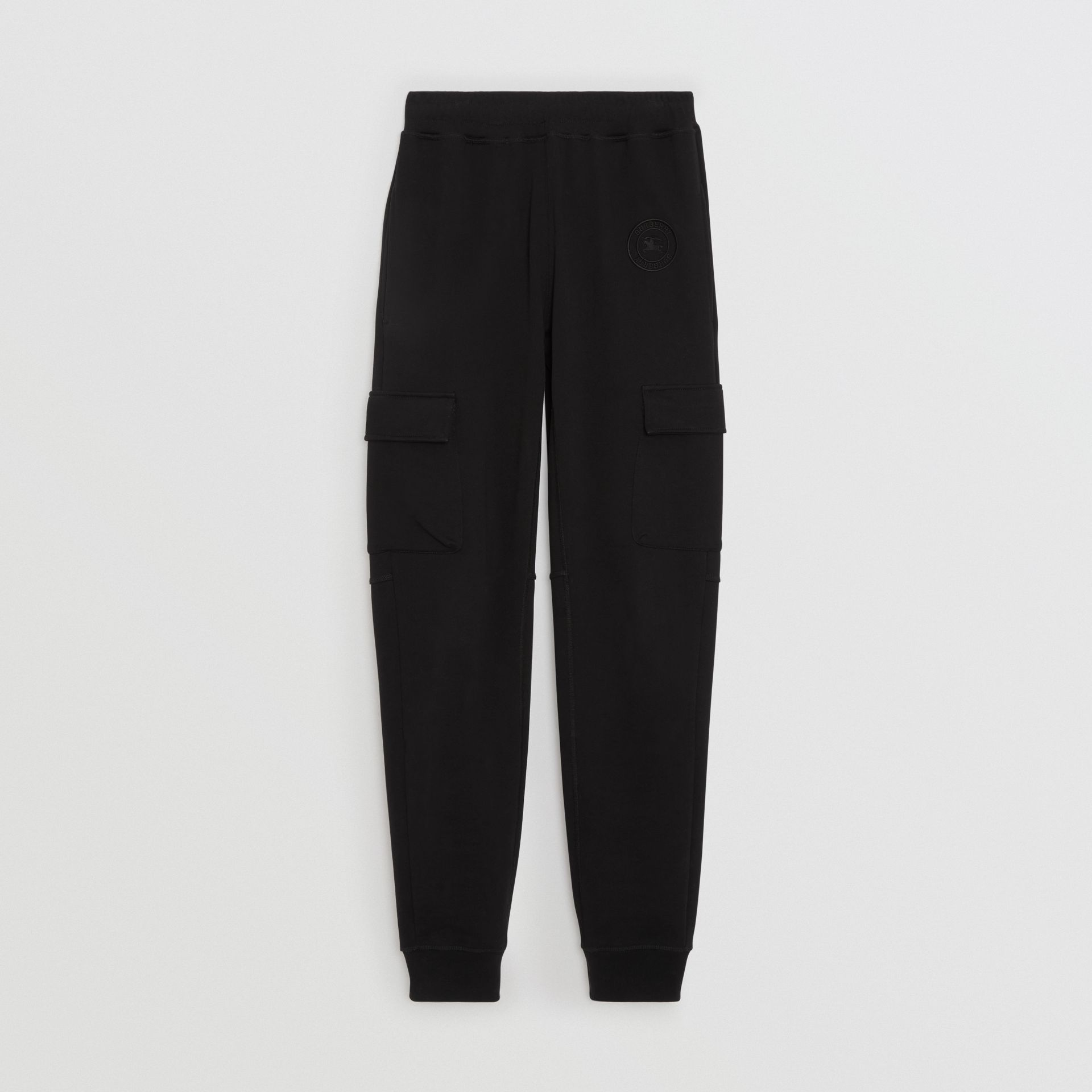 Pocket Detail Cotton Jersey Trackpants in Black - Women | Burberry Australia - gallery image 3