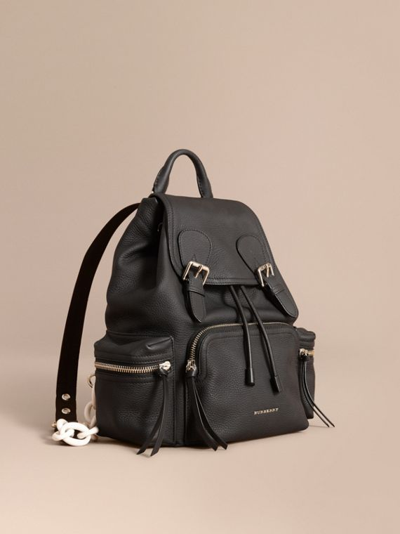 The Medium Rucksack in Deerskin with Resin Chain Black
