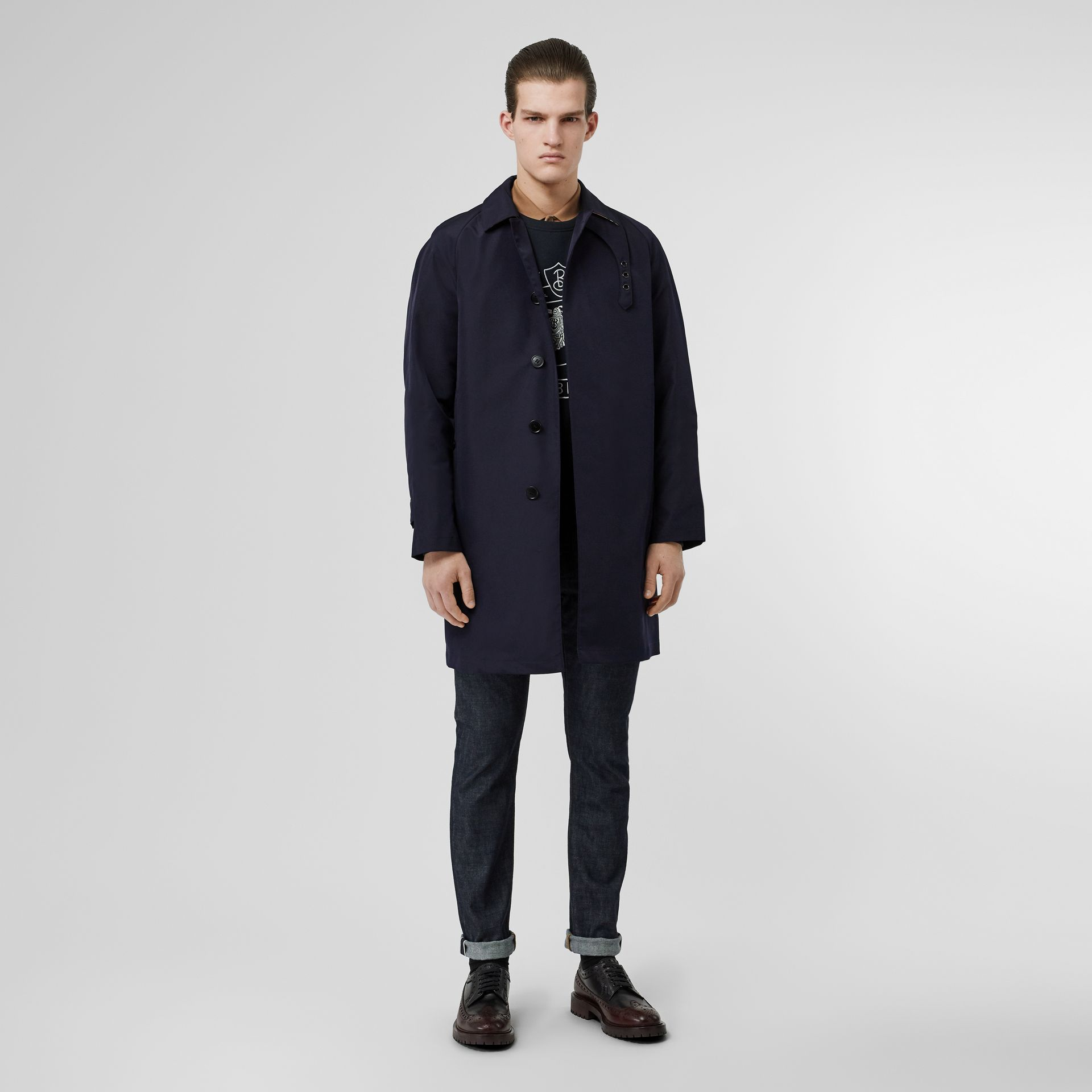 Bonded Car Coat with Warmer in Navy - Men | Burberry - gallery image 0