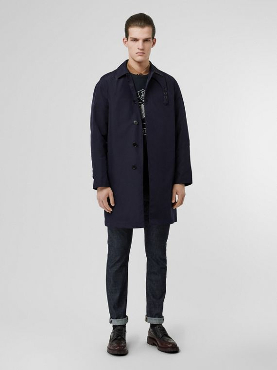 Bonded Car Coat with Warmer in Navy