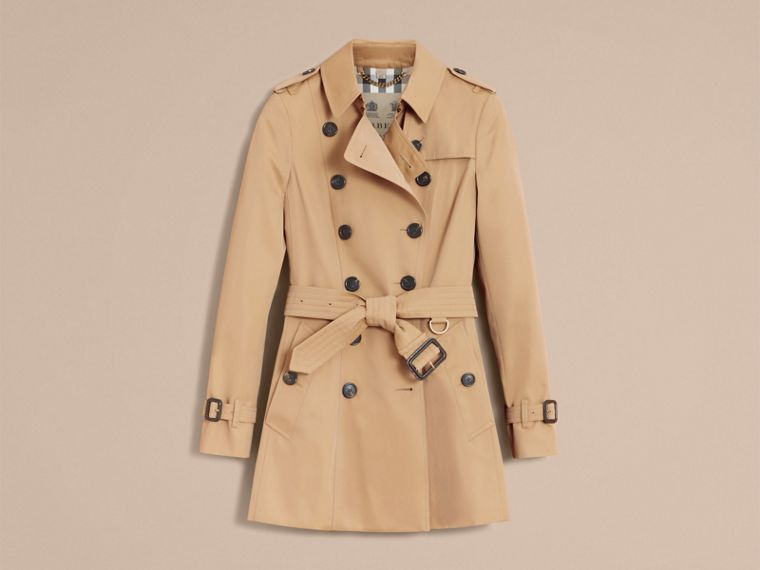 Honey The Chelsea – Short Heritage Trench Coat Honey - cell image 4