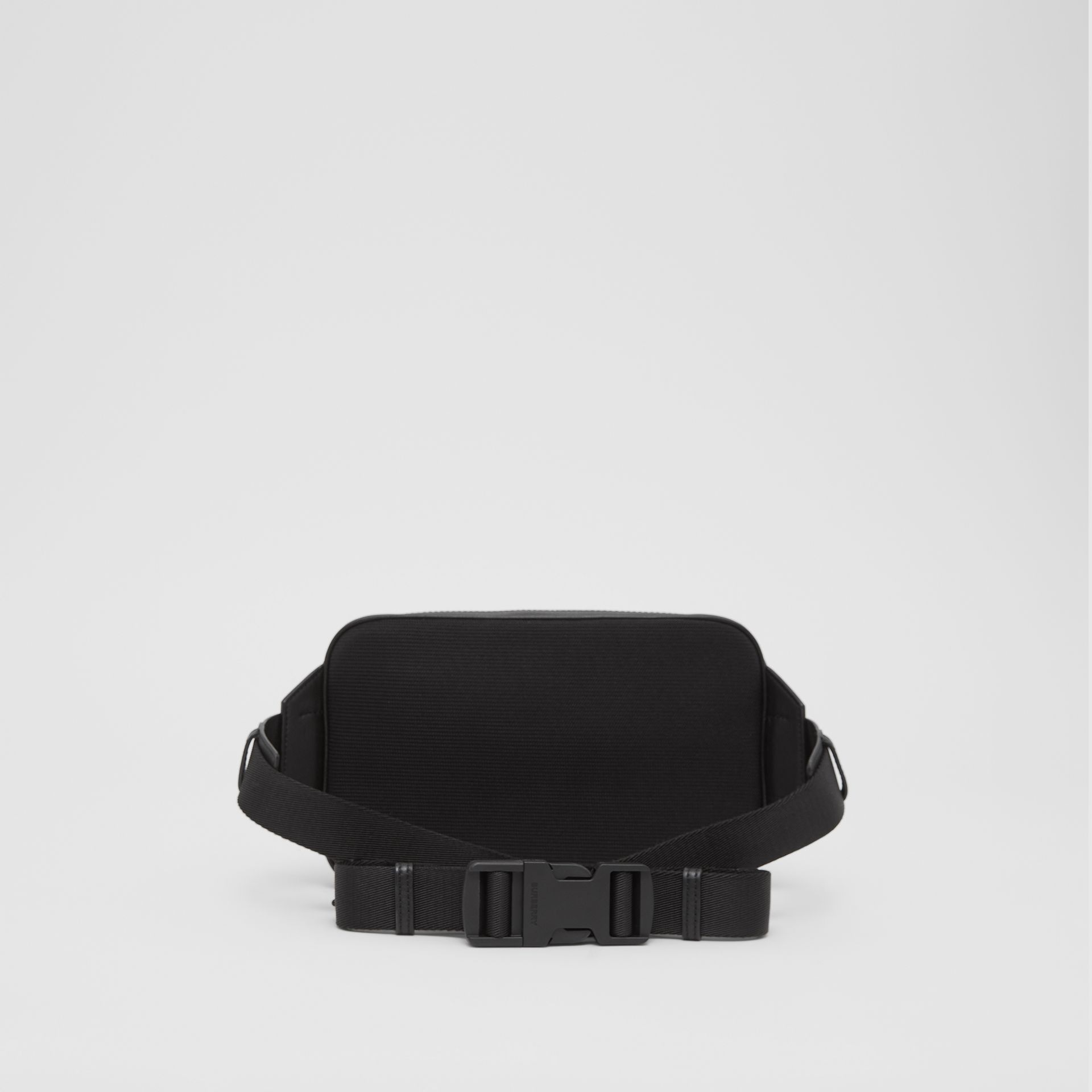 London Check and Leather Bum Bag in Dark Charcoal - Men | Burberry - gallery image 9