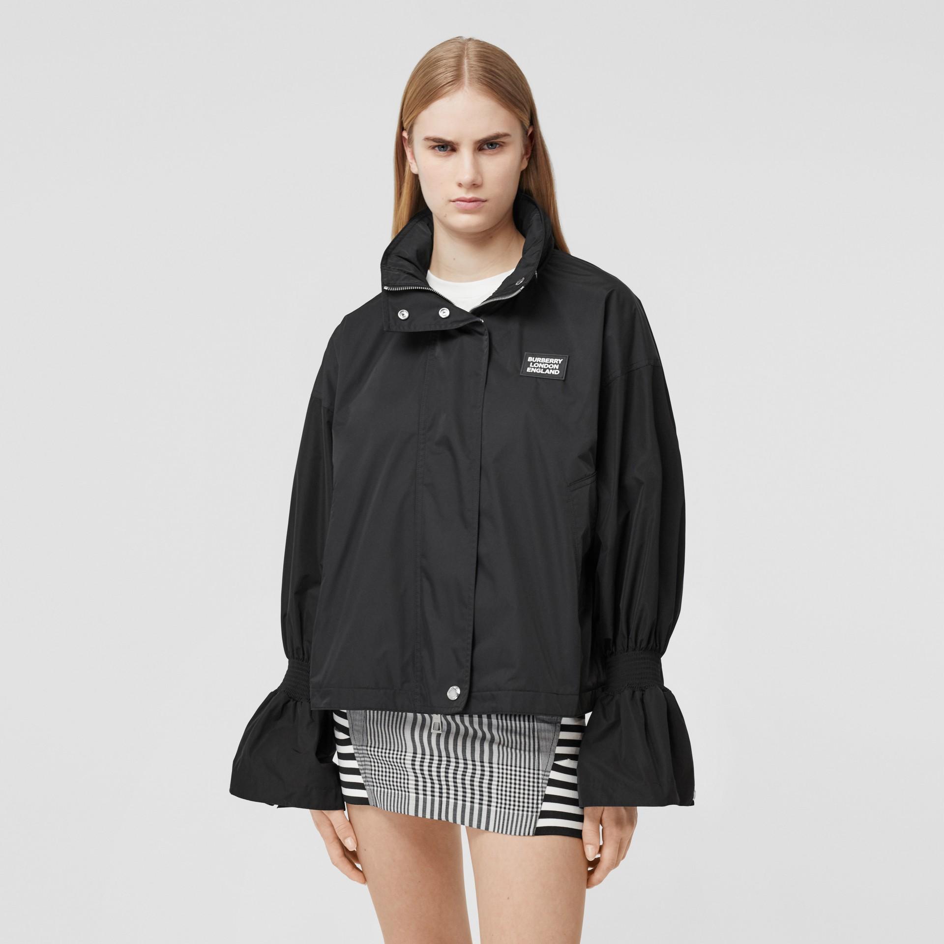Packaway Hood Bio-based Nylon Jacket in Black - Women | Burberry - gallery image 5