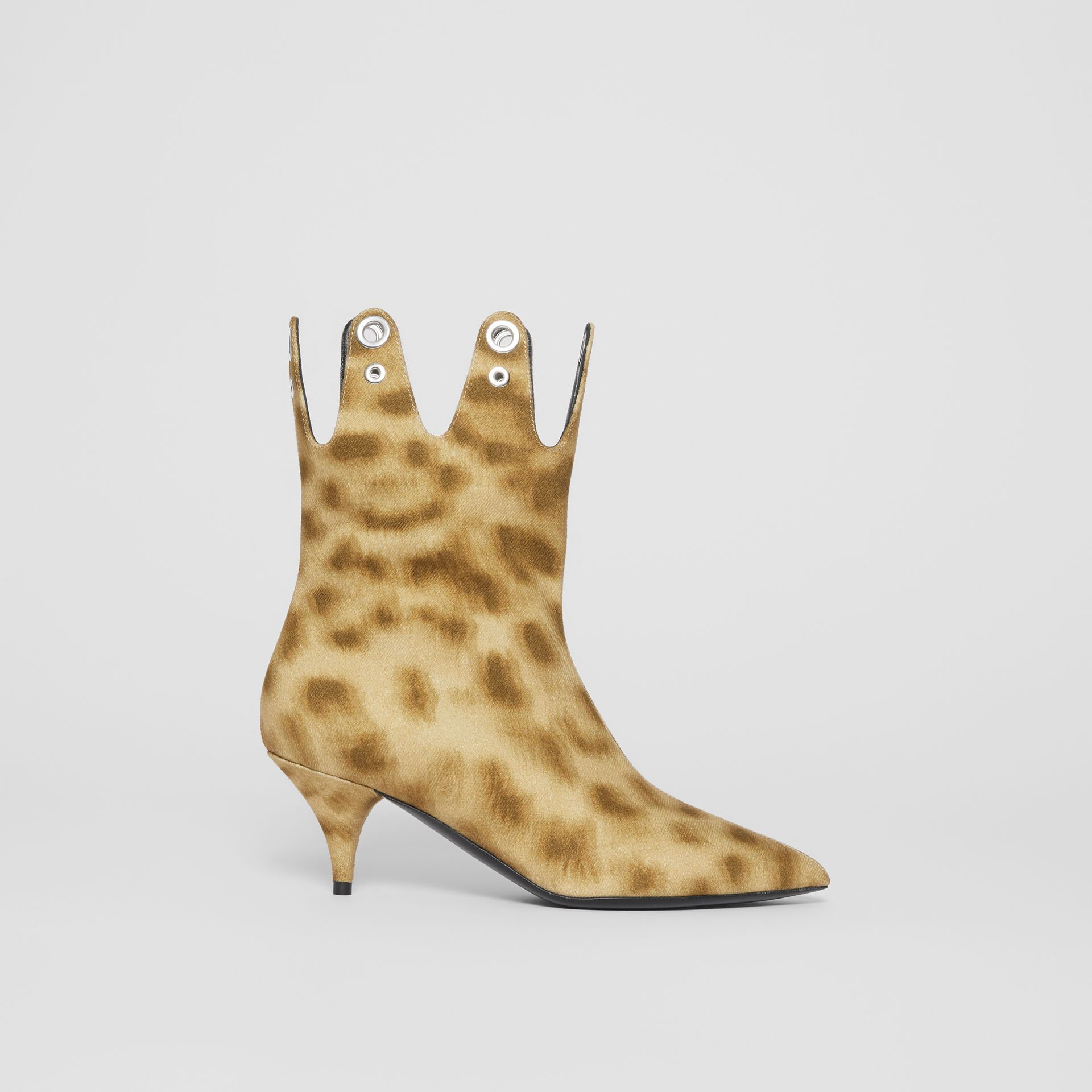 Eyelet Detail Leopard Print Ankle Boots - Women | Burberry - gallery image 5