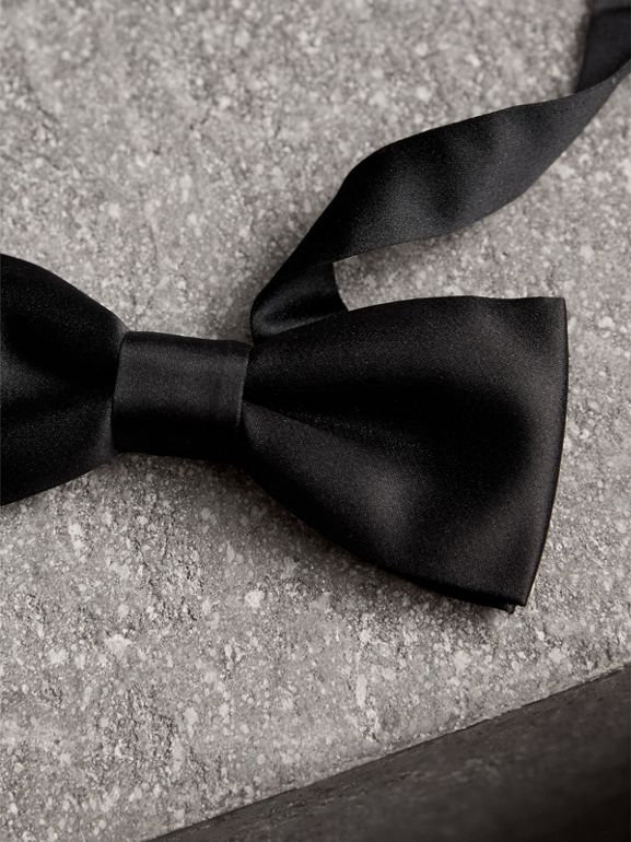 Silk Bow Tie in Black - Men | Burberry - cell image 1