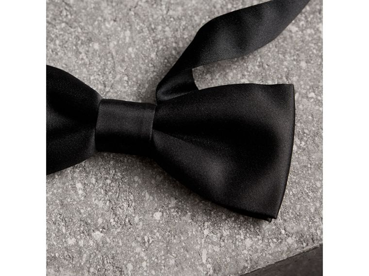 Classic Silk Bow Tie in Black - Men | Burberry Canada - cell image 1