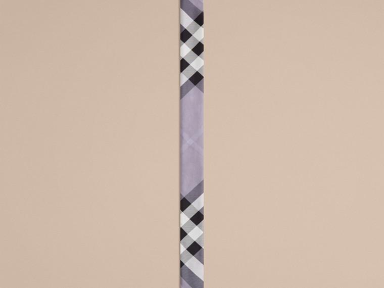 Lilla Sciarpa sottile in seta con stampa con motivo check Lilla - cell image 2