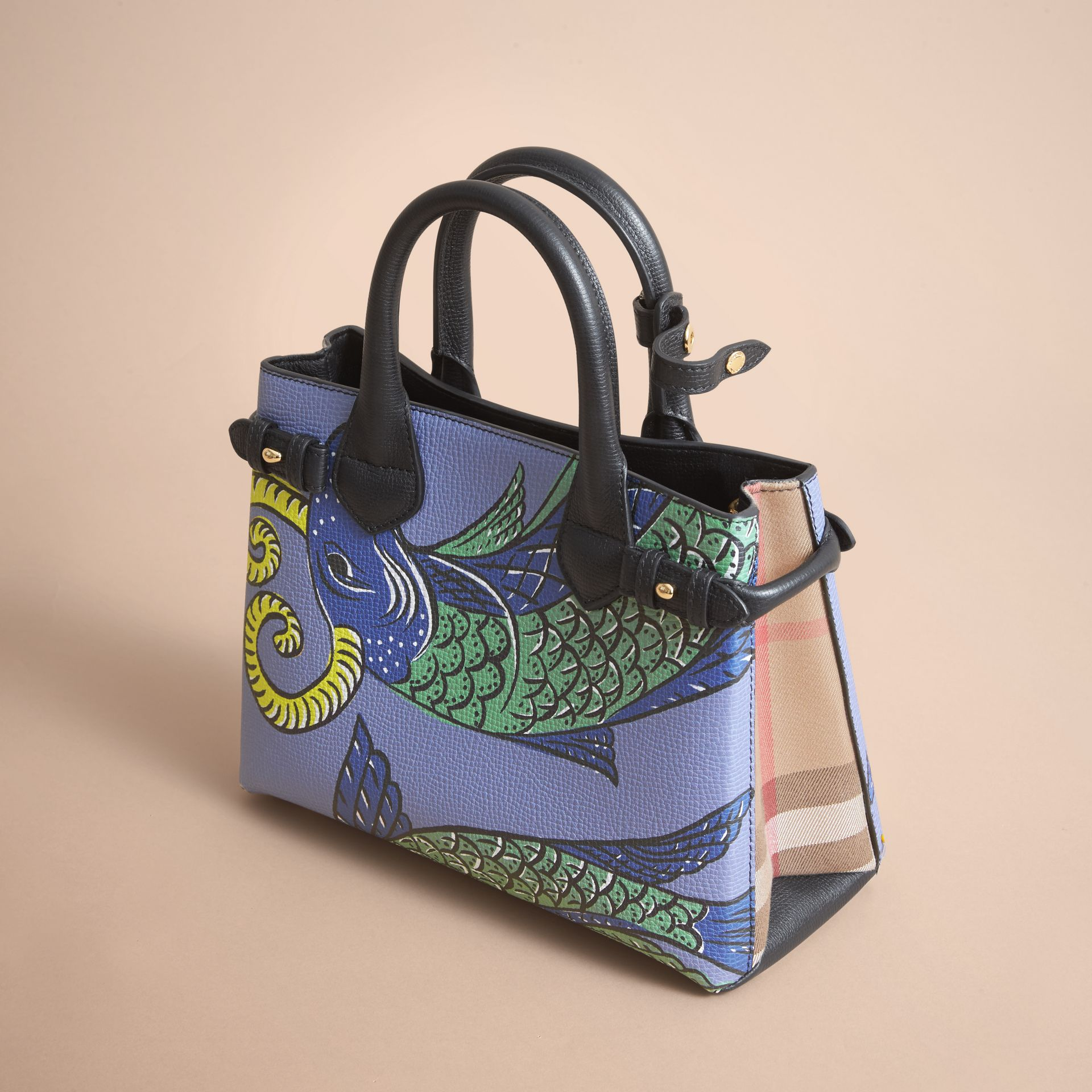 The Small Banner in Beasts Print Leather - Women | Burberry Australia - gallery image 5