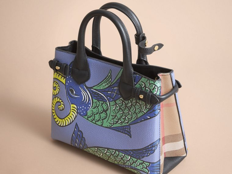 The Small Banner in Beasts Print Leather in Black - Women | Burberry Singapore - cell image 4