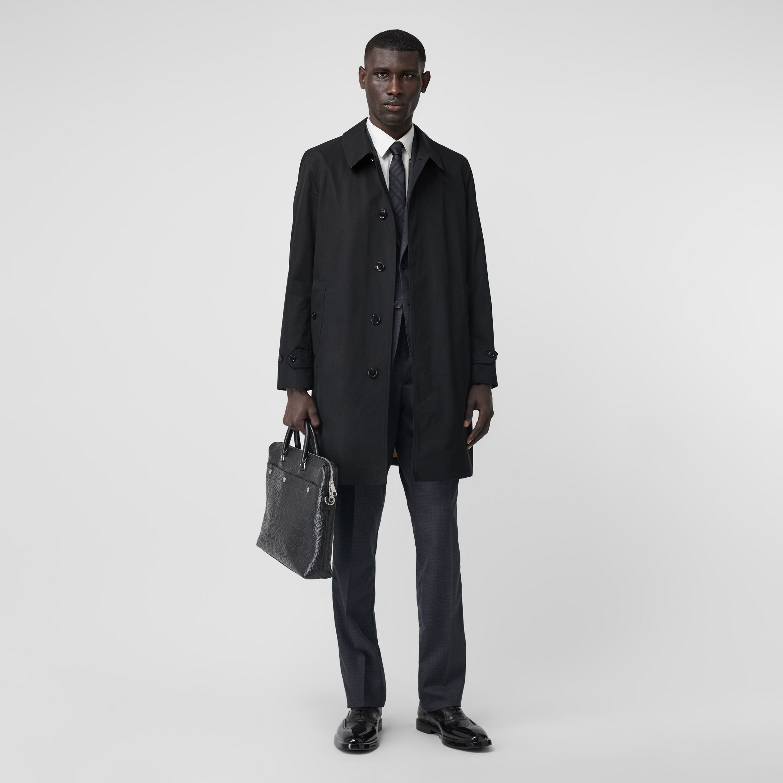 The Pimlico Heritage Car Coat in Black - Men | Burberry - 3