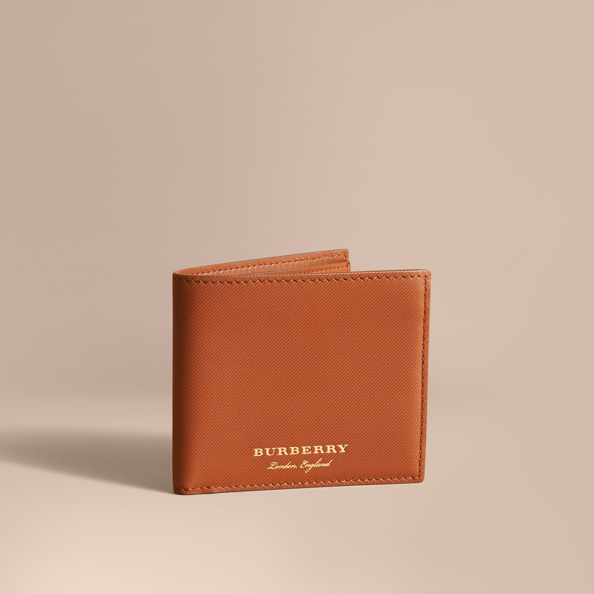 Trench Leather Folding Wallet Tan - gallery image 1