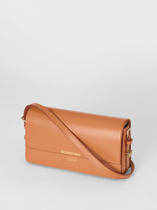 "Mini-Lederhandtasche ""Grace"" (Muskatfarben) - Damen 