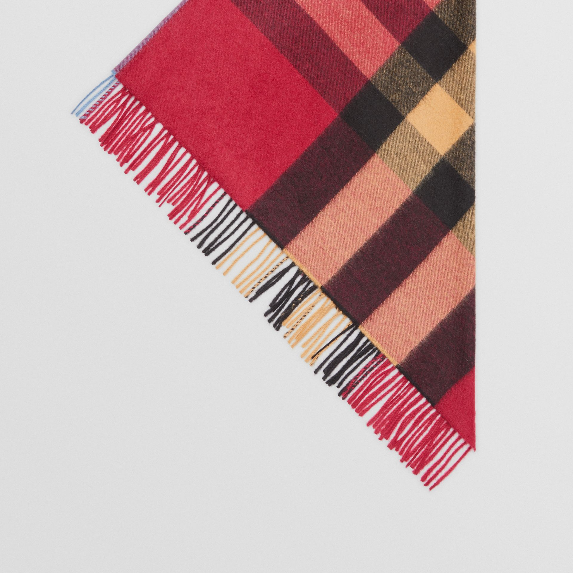 The Burberry Bandana in Check Cashmere in Damson Pink | Burberry United Kingdom - gallery image 4