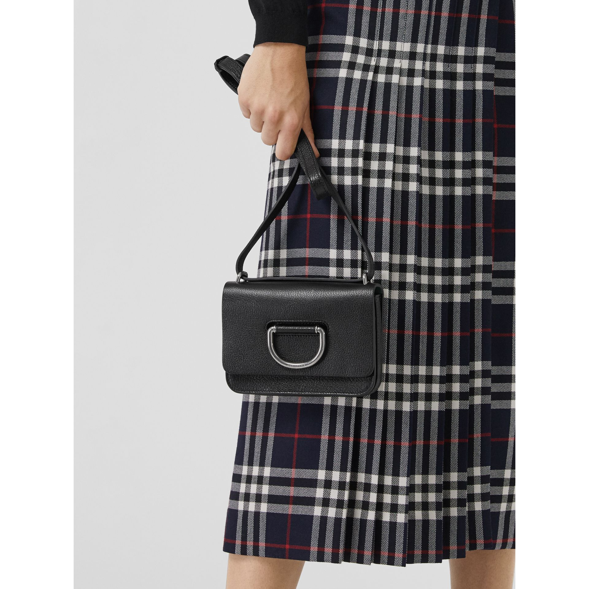 The Mini Leather D-ring Bag in Black - Women | Burberry United Kingdom - gallery image 3