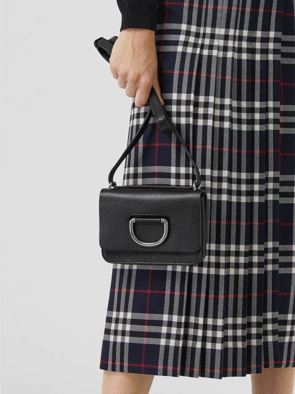 The Mini Leather D-ring Bag in Black - Women | Burberry - cell image 3