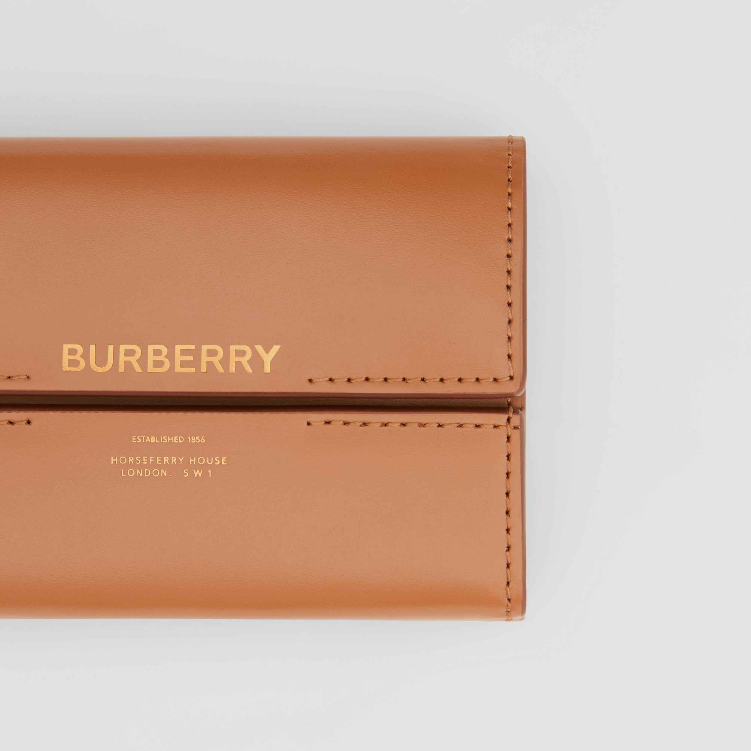 Horseferry Print Leather Folding Wallet in Nutmeg - Women | Burberry - 2