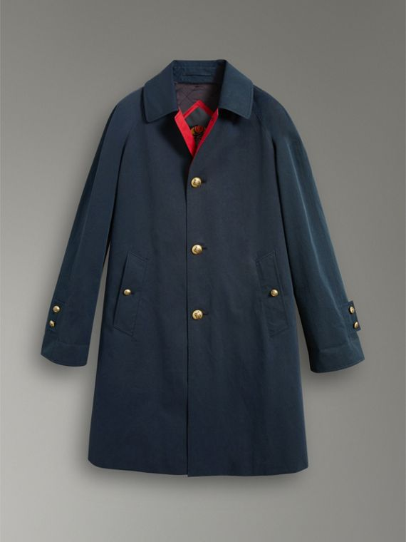 Cappotto car coat riproposto in gabardine di cotone cerato (Navy) - Donna | Burberry - cell image 3
