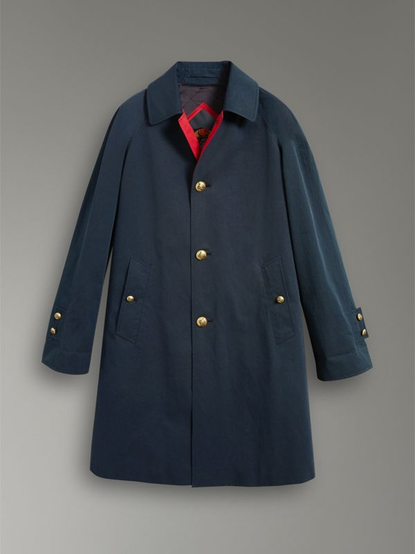 Reissued Waxed Cotton Gabardine Car Coat in Navy - Women | Burberry - cell image 3