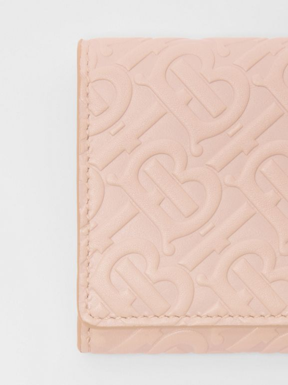 Monogram Leather Continental Wallet in Rose Beige - Women | Burberry Canada - cell image 1