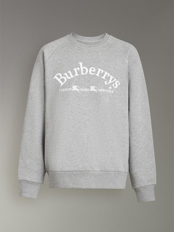 Suéter de malha com logo bordado (Cinza Claro Mesclado) - Homens | Burberry - cell image 3