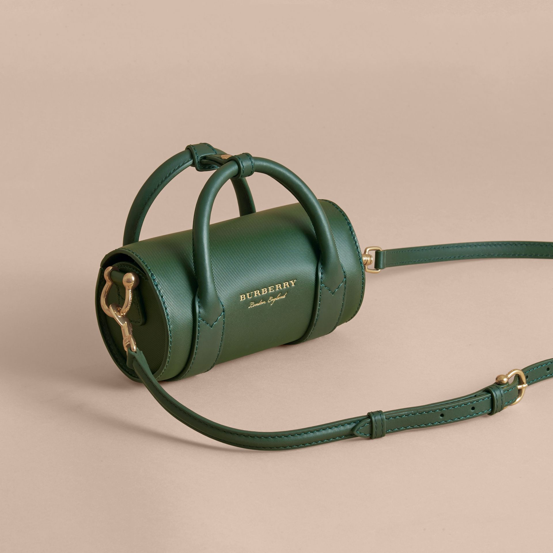 The Mini DK88 Barrel Bag in Dark Forest Green - Women | Burberry United States - gallery image 3