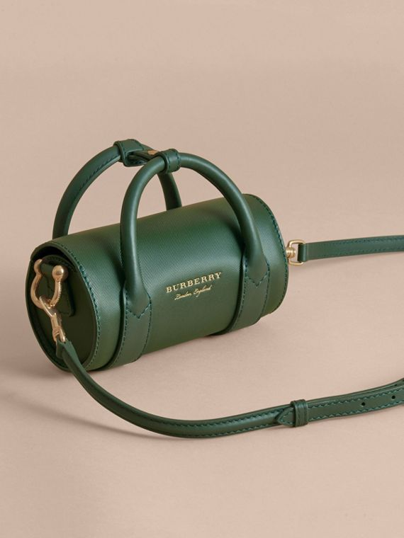 The Mini DK88 Barrel Bag in Dark Forest Green - Women | Burberry - cell image 3