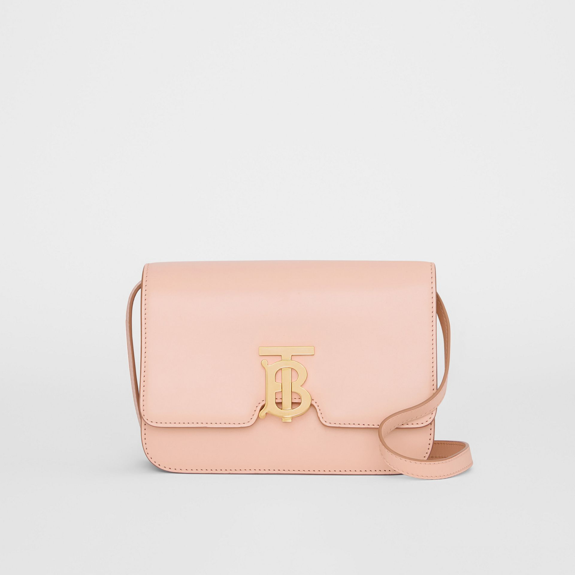 Petit sac TB en cuir (Beige Rose) - Femme | Burberry - photo de la galerie 0