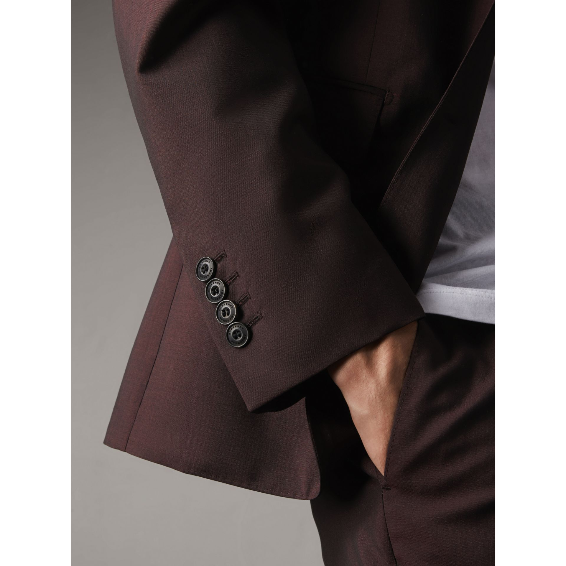 Soho Fit Wool Mohair Suit in Chestnut Brown - Men | Burberry - gallery image 6