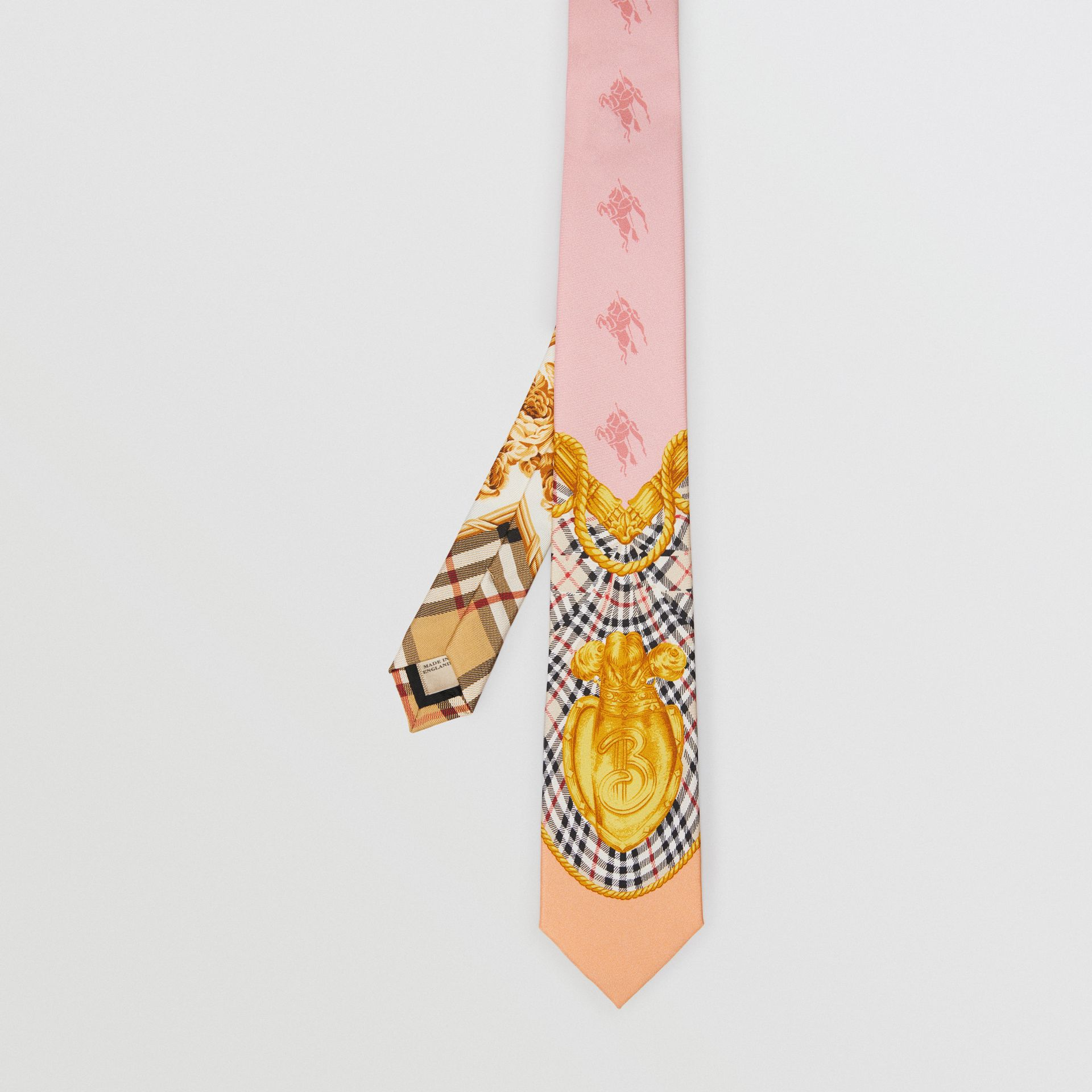 Modern Cut Archive Scarf Print Silk Tie in Pale Pink - Men | Burberry United States - gallery image 3