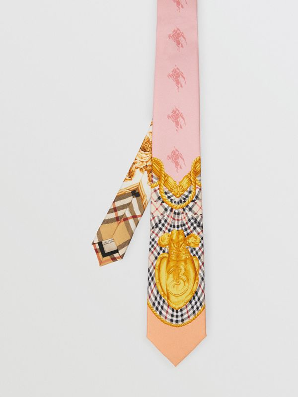 Modern Cut Archive Scarf Print Silk Tie in Pale Pink - Men | Burberry United States - cell image 3