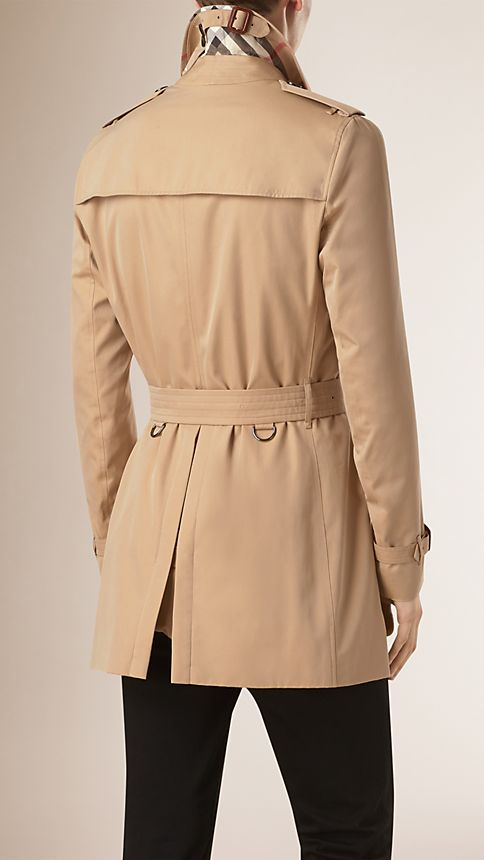 Honey Cotton Gabardine Trench Coat - Image 3