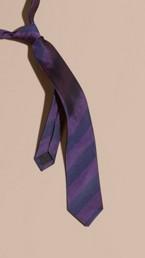 Slim Cut Stripe Jacquard Silk Tie