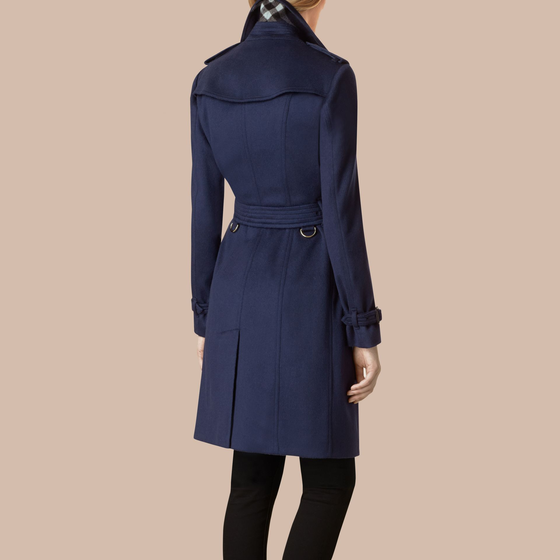 Empire blue Sandringham Fit Cashmere Trench Coat Empire Blue - gallery image 3
