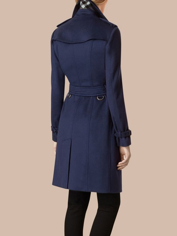 Empire blue Sandringham Fit Cashmere Trench Coat Empire Blue - cell image 2