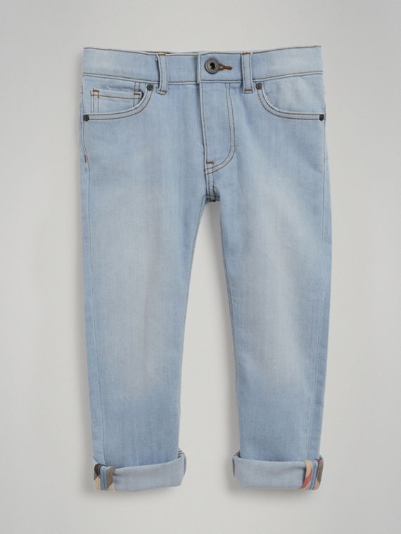 Relaxed Fit Stretch Jeans in Light Blue