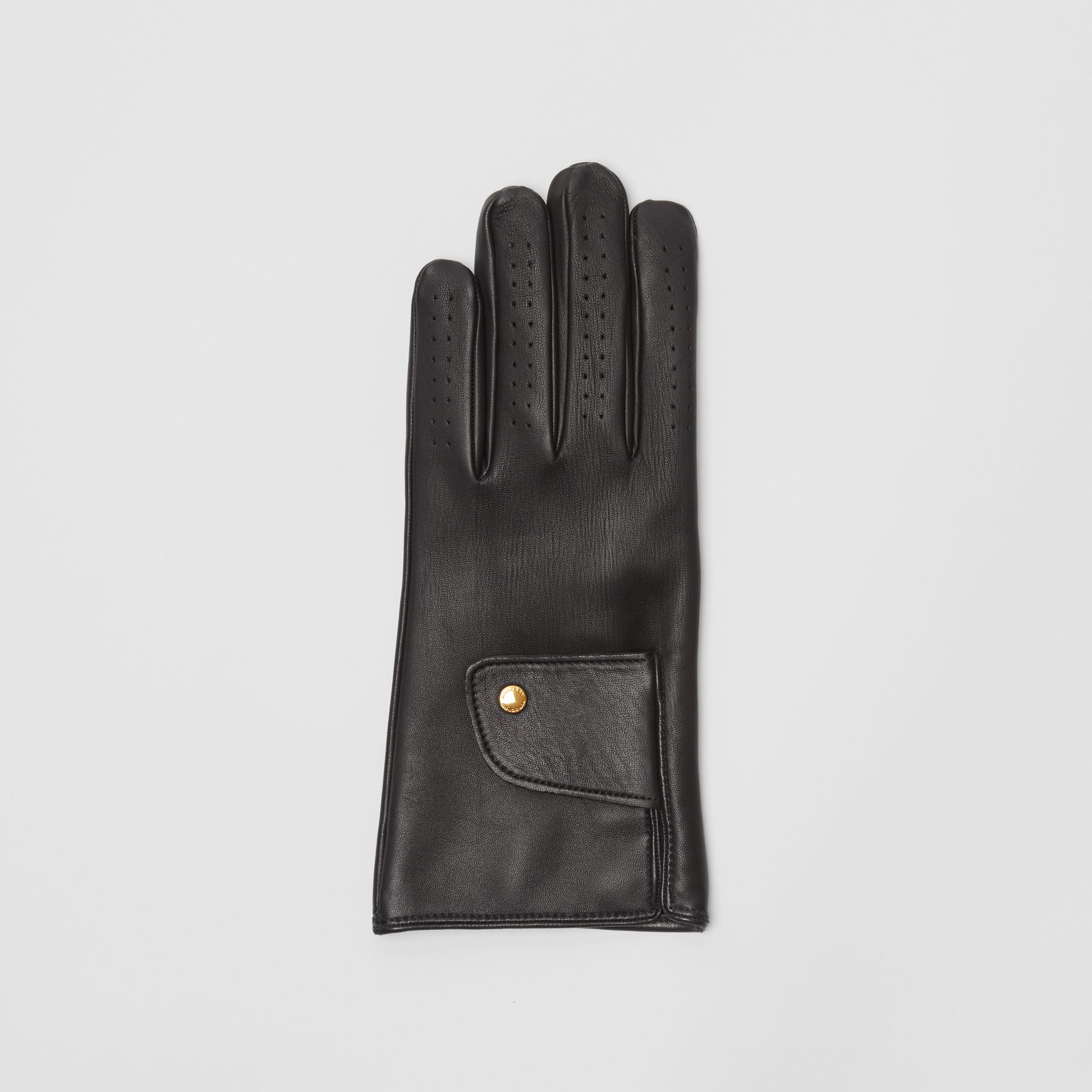 Cashmere-lined Lambskin Gloves in Black | Burberry United Kingdom - gallery image 2