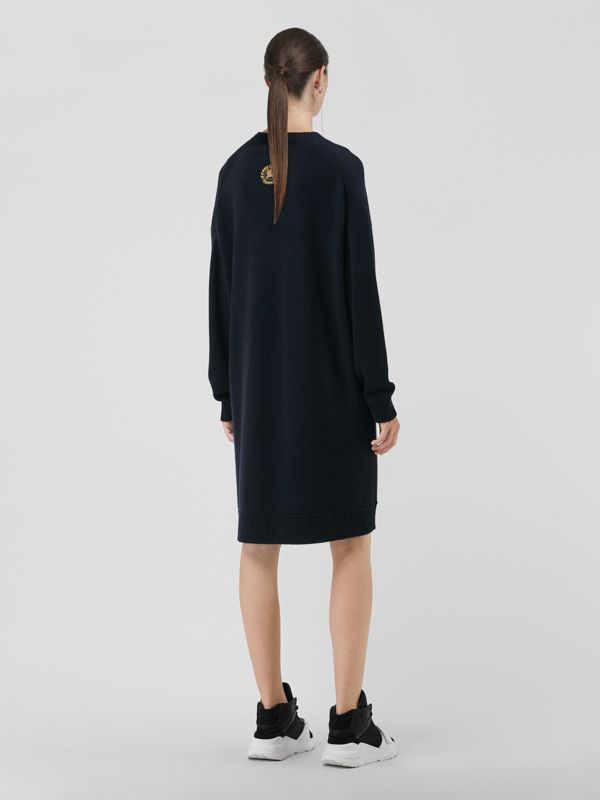 Cashmere Sweater Dress in Navy - Women | Burberry - cell image 2