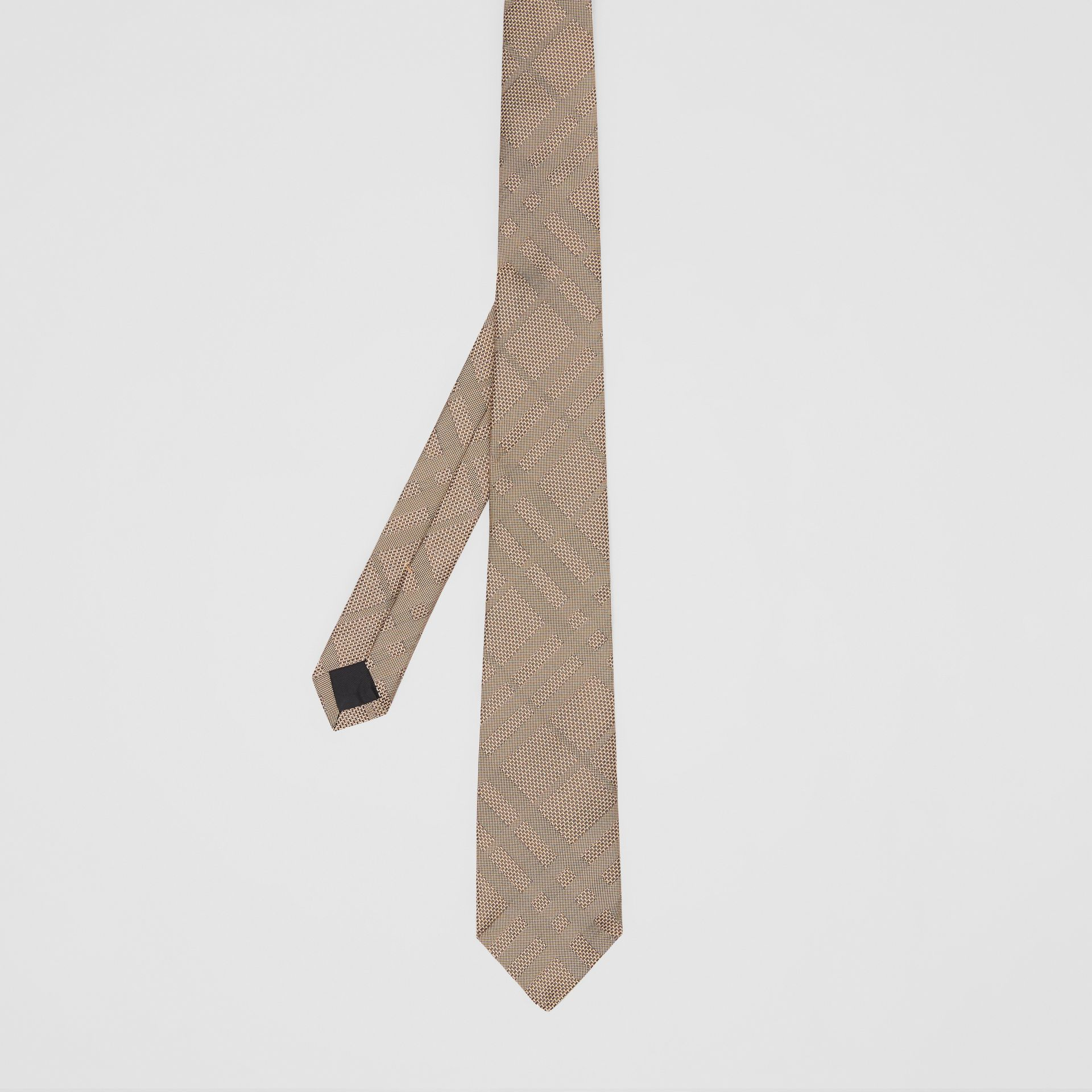 Classic Cut Check Silk Jacquard Tie in Archive Beige - Men | Burberry - gallery image 4