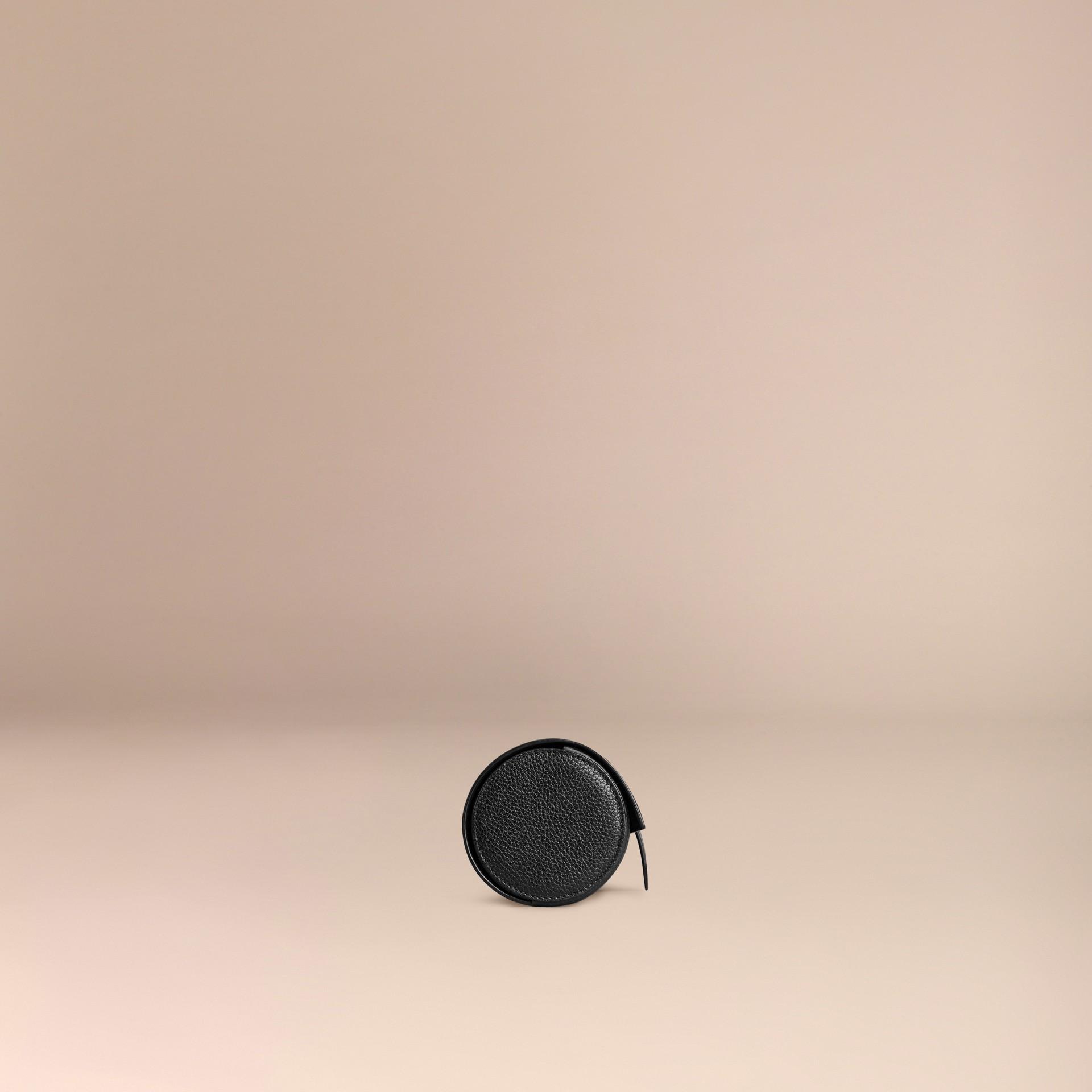 Nero Custodia per orologi in pelle a grana Nero - immagine della galleria 3