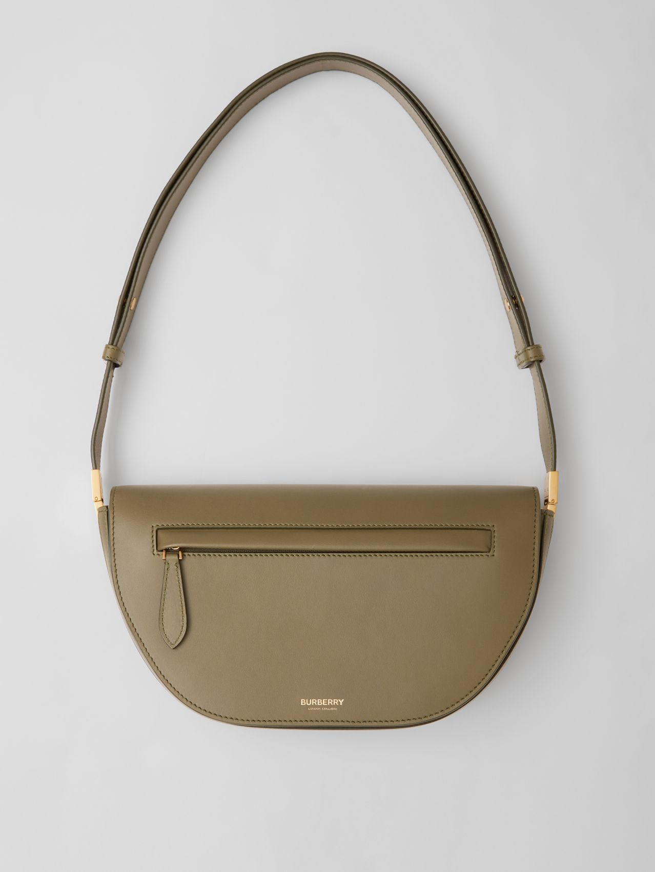 Small Leather Olympia Bag in Dark Fern Green