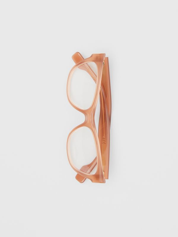 Square Optical Frames in Peach - Women | Burberry Singapore - cell image 3