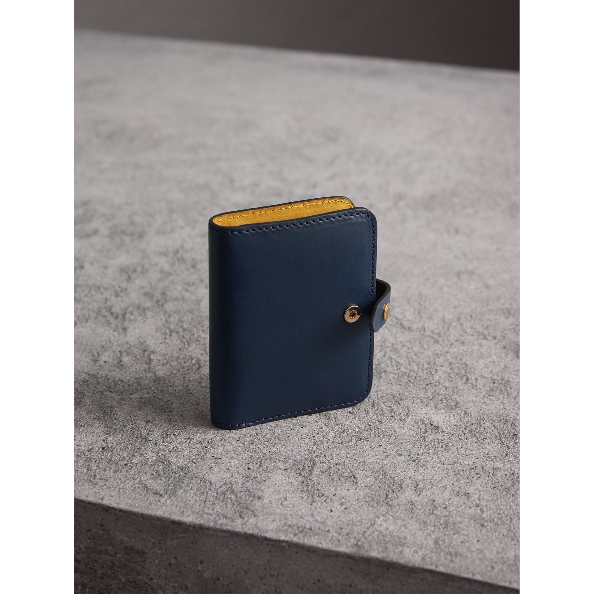 Equestrian Shield Leather Card Case in Mid Indigo | Burberry Australia - gallery image 3